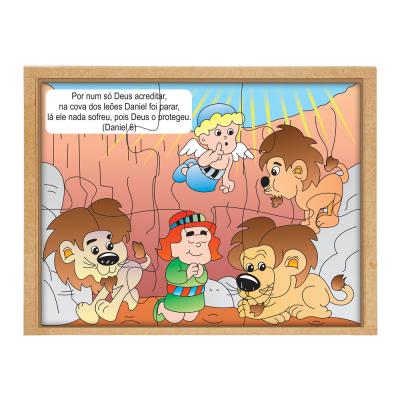 Quebra-cabeça Bíblico - Daniel na cova dos leões