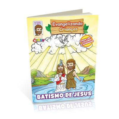 Livrinho para Colorir - Batismo de Jesus
