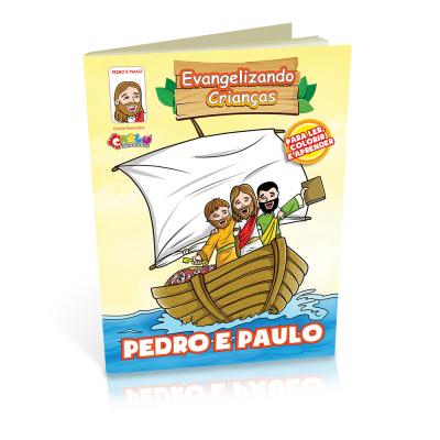 Livrinho para Colorir - Pedro e Paulo