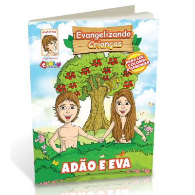 Livrinho para Colorir - Adão e Eva